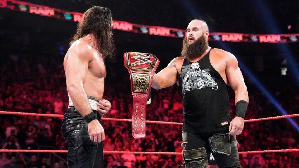 WWE Braun Strowman and Seth Rollins