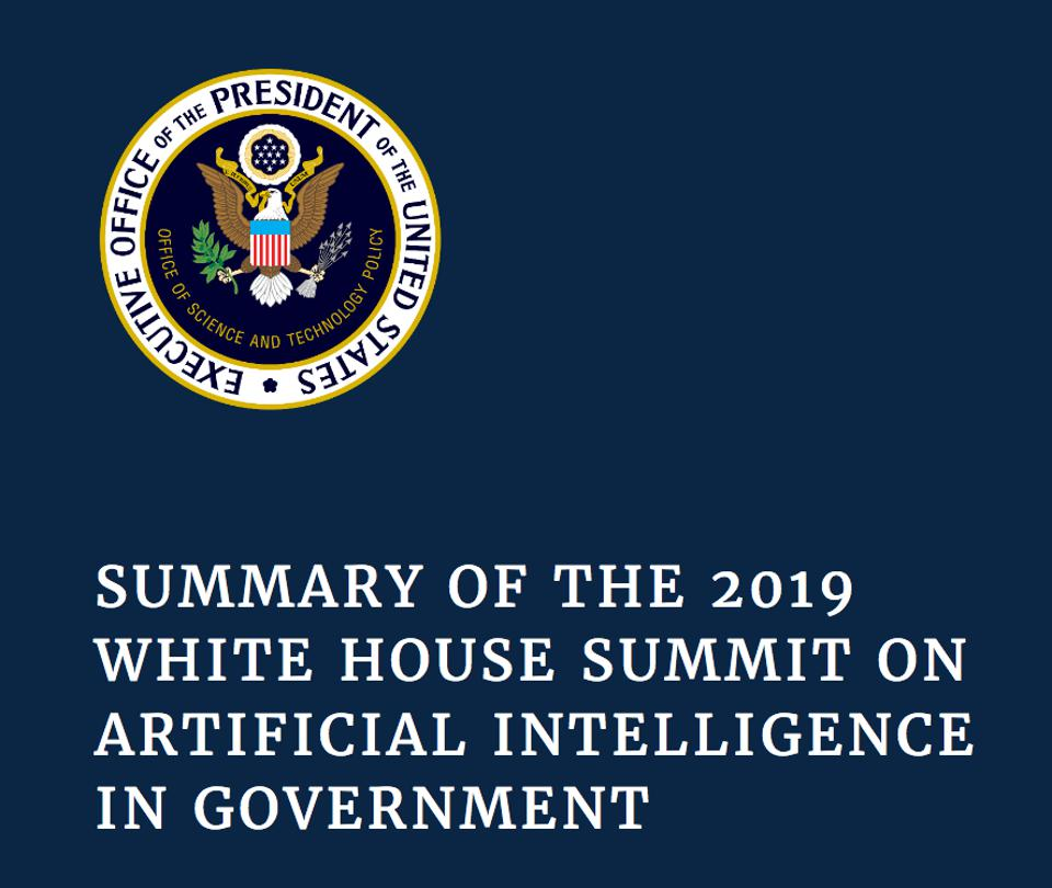 White House Summit on Artificial Intelligence in Government