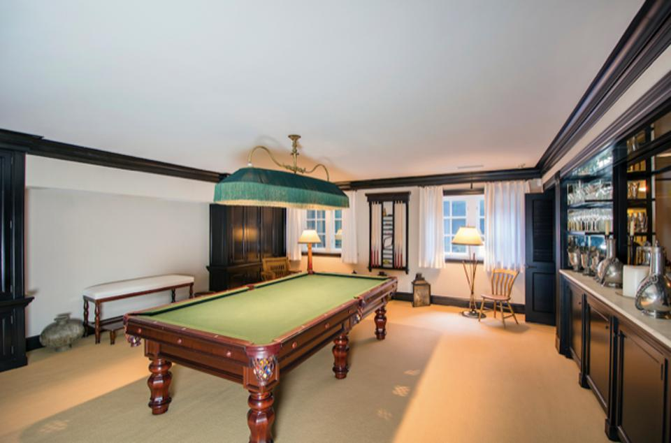 The pool room in the second house