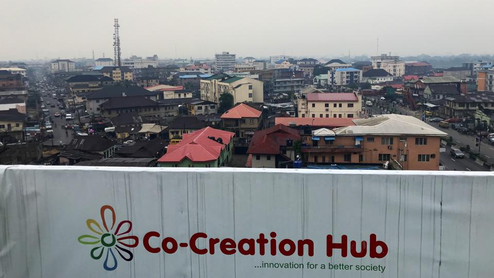 The view from the roof of CcHub in Lagos, Nigeria.