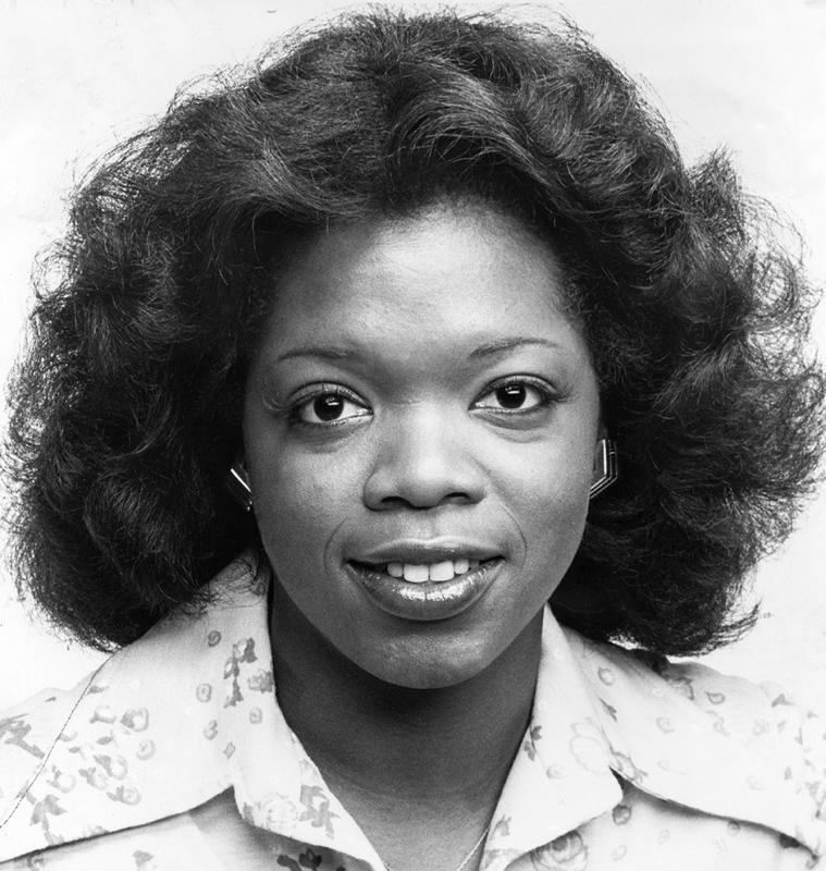 A portrait of Oprah Winfrey upon becoming co anchor of Eyewitness News on WJZ, with co host Jerry Turner, Baltimore, Maryland, June 26, 1978.