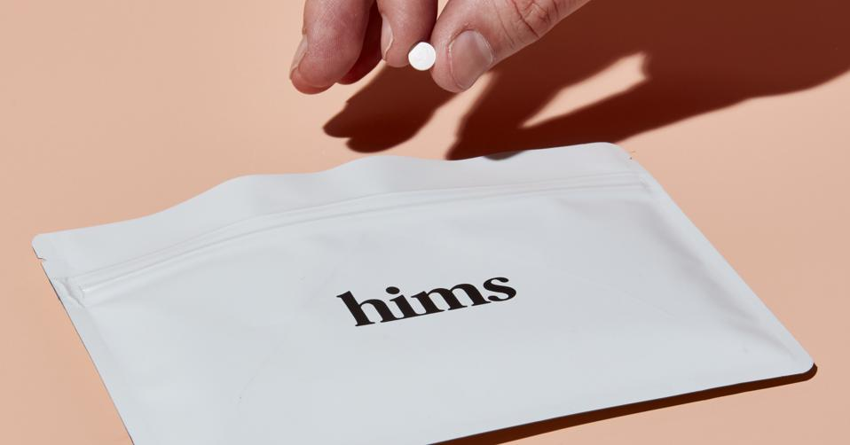 A Hims advertisement for sildenafil, a generic medication to treat erectile dysfunction.