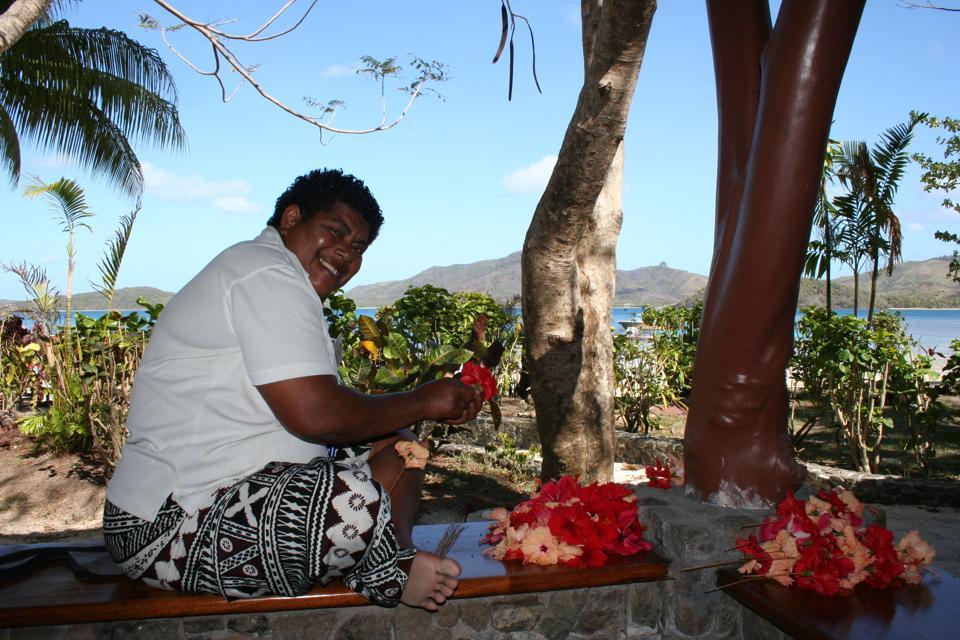 Turtle Island.  Fiji.  Bure. Bure mama.