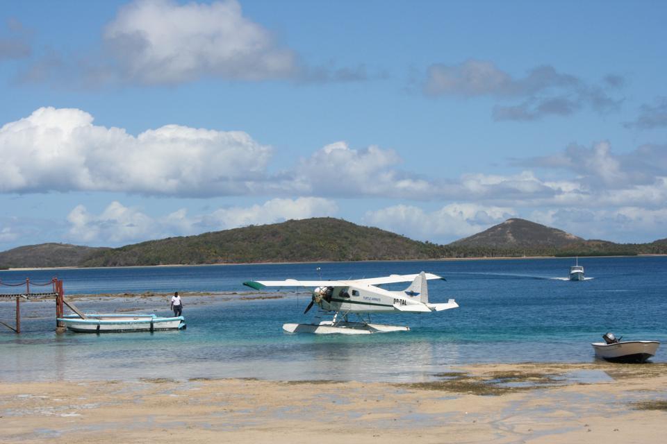 Fiji Turtle Island.  Seaplane