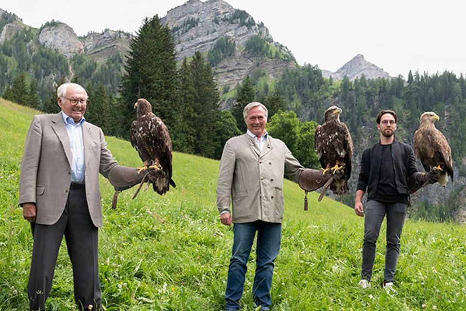 Three generations of Chopard owners: Karl, Karl-Friderich and Karl-Fritz Scheufele.