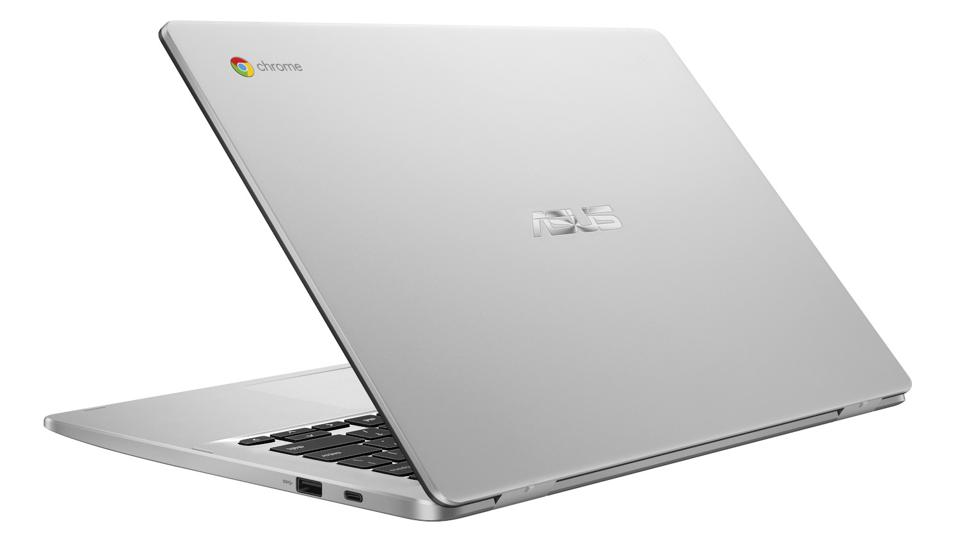 Open a silver Asus notebook.
