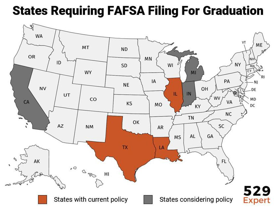 Louisiana was the first state to require its students file the FAFSA prior to graduating high school. Now, more states are following suit.