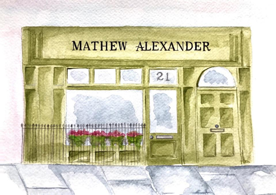 The storefront for Mathew Alexander