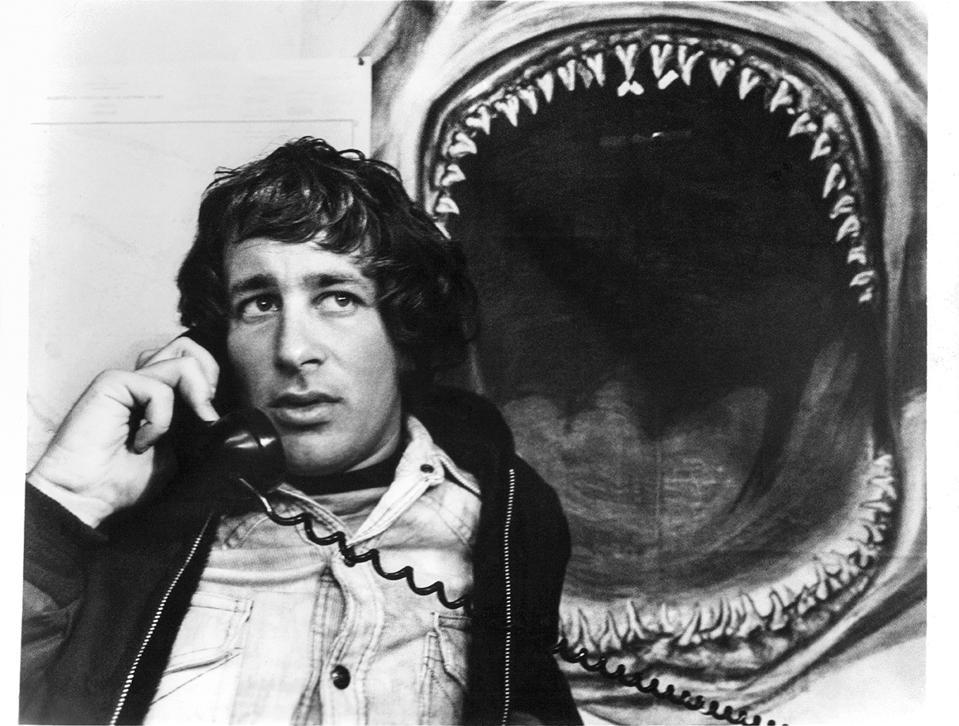 Steven Spielberg In 'Jaws.' Steven Spielberg on set of the film 'Jaws', 1975