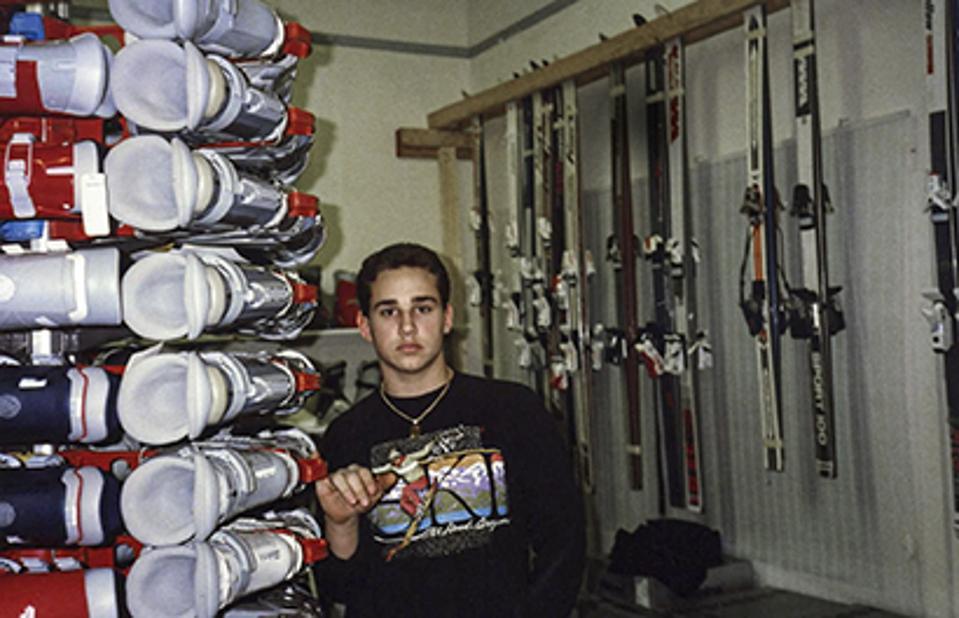 Rubin as a teenager at the ski shop he ran in Conshohocken, Pennsylvania.
