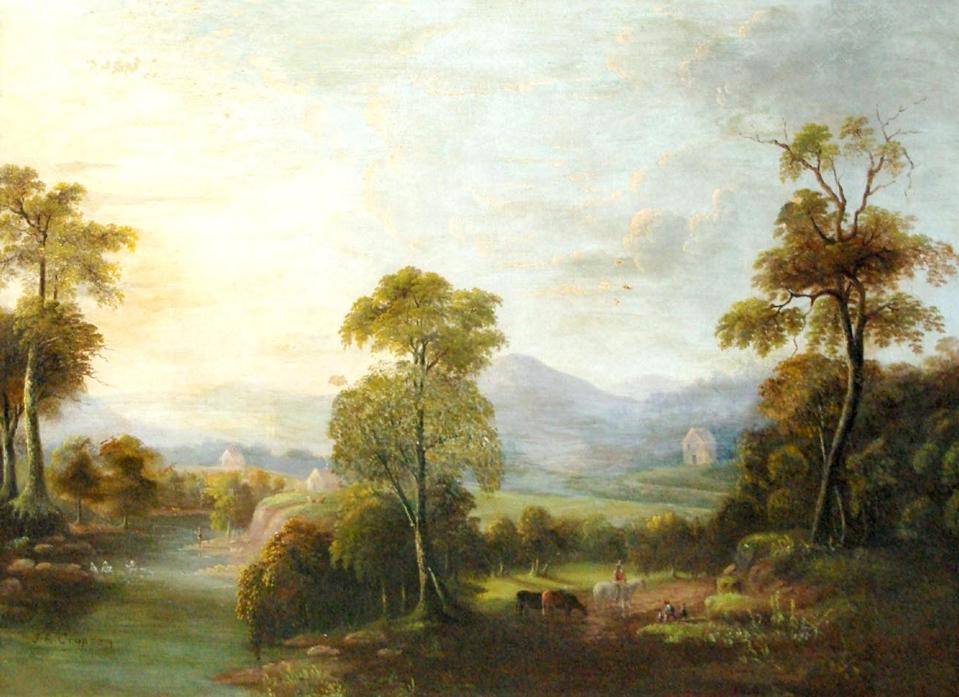 A fake Jasper F. Cropsey painting