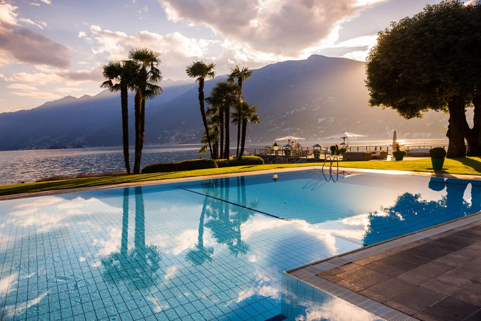 Lake Maggiore from Eden Roc.