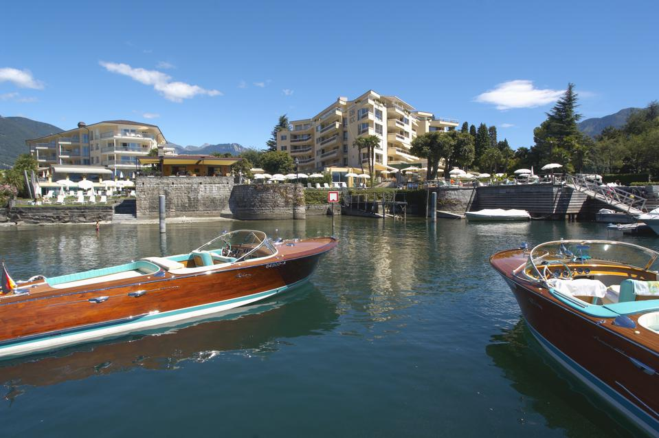 Eden Roc with Riva boats.