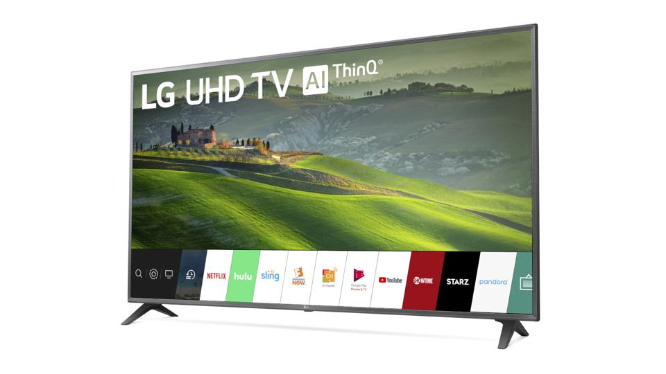 75-inch LG TV with LG's WebOS.