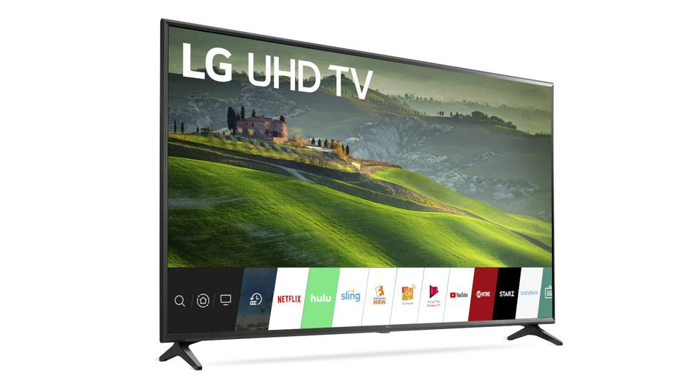 65-inch LG TV with WebOS.