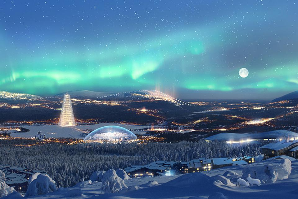 An illustration of the proposed Republic of Santa Claus winter theme park in Finland.