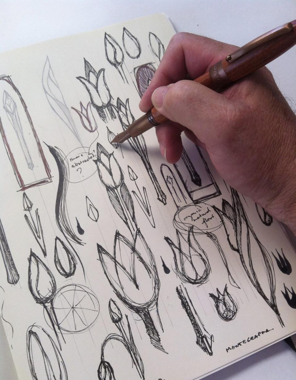 Australian artist Timothy John sketching pen clip.