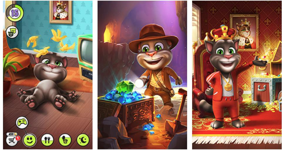 Talking Tom, the iconic mobile game, is now the basis for a video series, a movie, theme parks, and more.