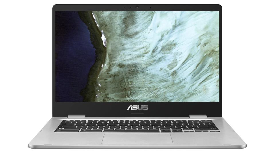 Asus Chromebook C423NA laptop from the front.