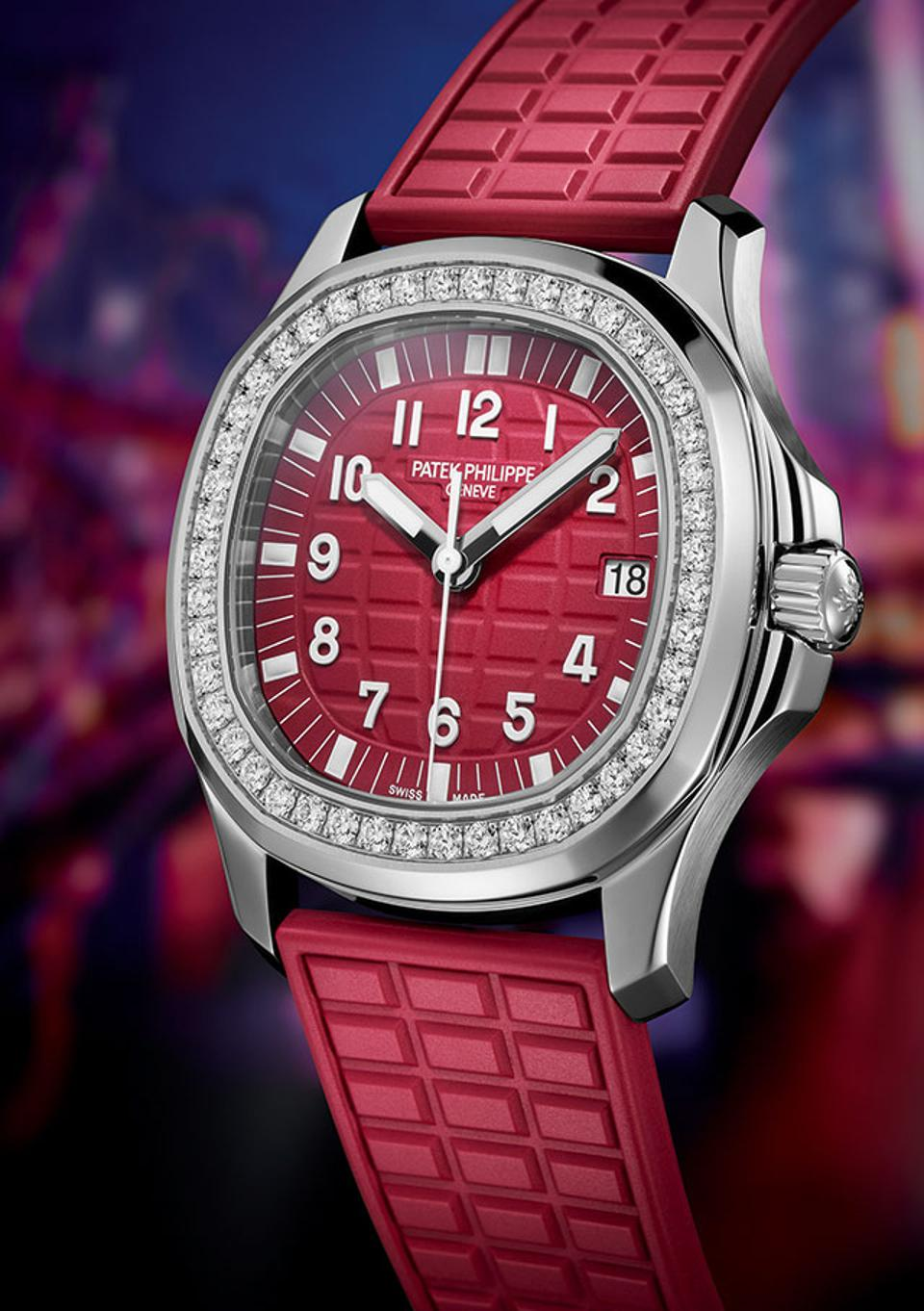 The new Patek Philippe Aquanaut Luce Ref. 5067A, introduced at the Watch Art Grand Exhibition in Singapore.