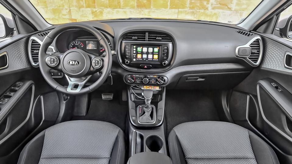 The GT-Line version of the 2020 Kia Soul comes with a 10.25 widescreen display for the car's intuitive infotainment system.