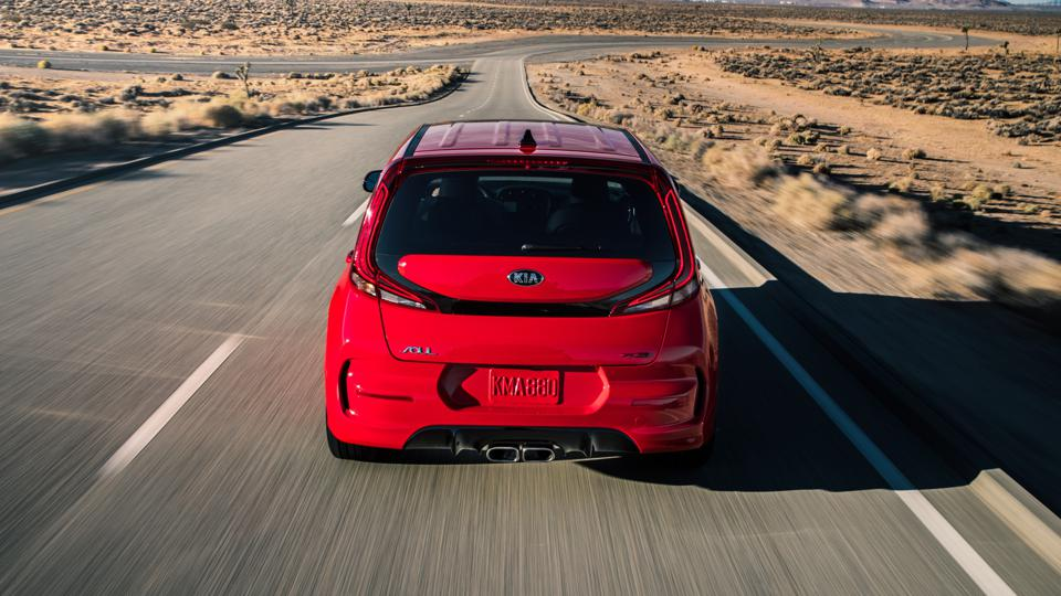 The 2020 Kia Soul's rear end features a wider and lower tailgate for easier loading and unloading.