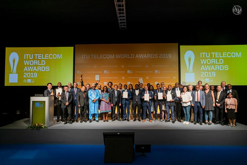 World Awards Winners with ITU leaders and judges