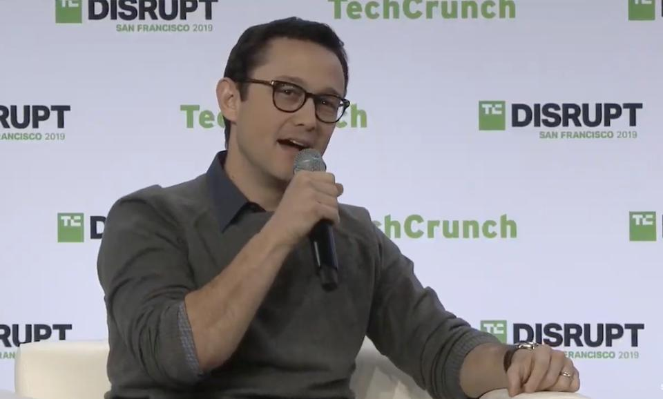 Joseph Gordon-Levitt at Disrupt SF