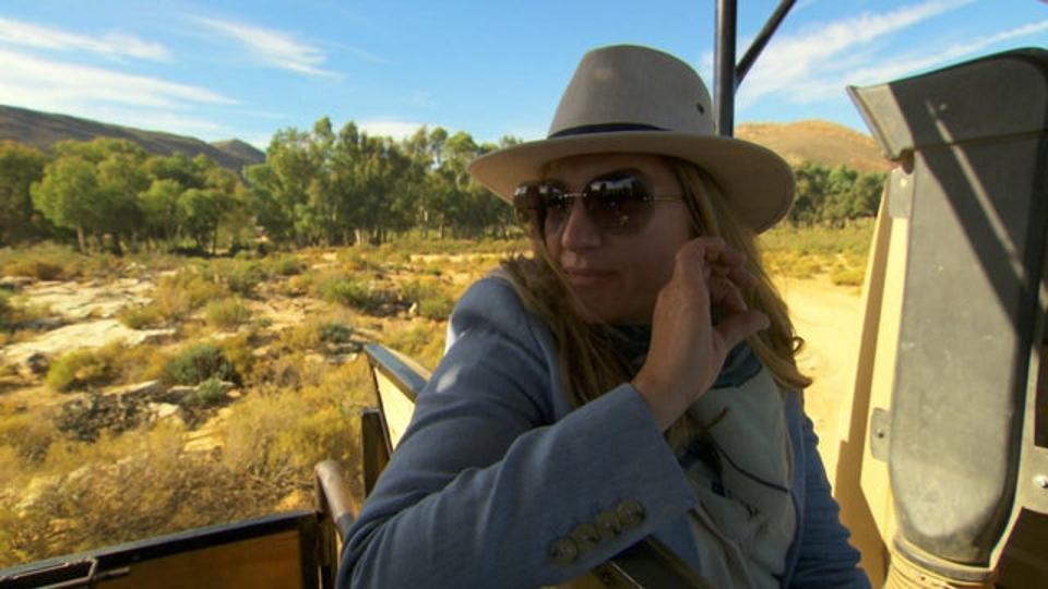 Baroness Brady on Safari