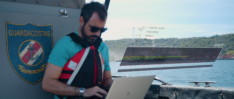 Global non-profit OceanMind uses AI to detect illegal and unregulated fishing.