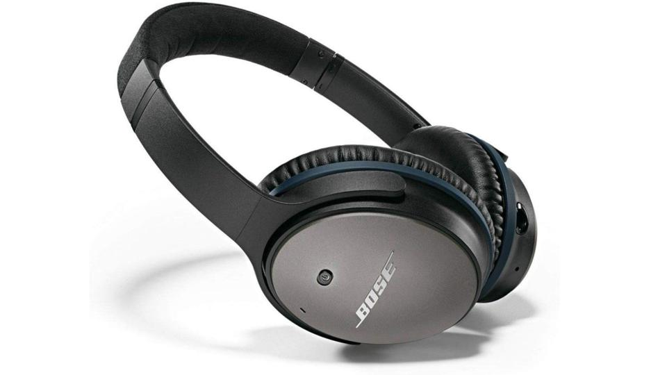 Bose QuietComfort 25 headphones on a white background.