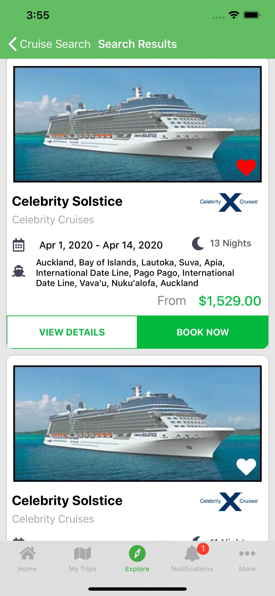 New Cruise Planners App