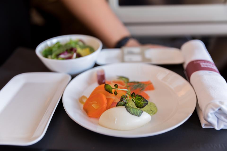 Boston, MA - An appetizer from the Taste of Switzerland menu on SWISS