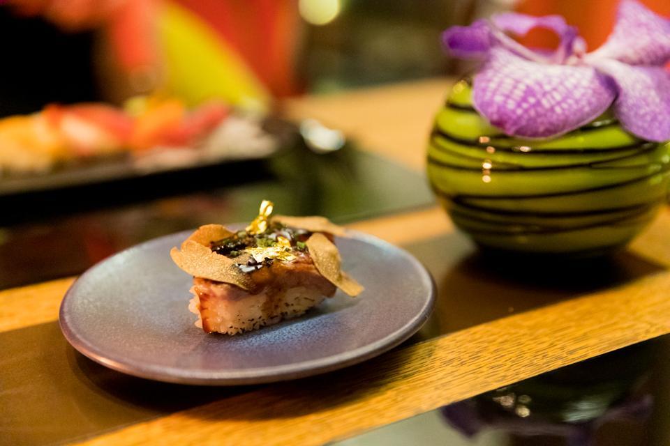 Monte Carlo - A waygu beef sushi roll at Yoshi