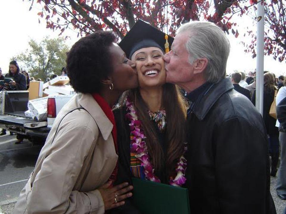 Elaine Welteroth with her parents