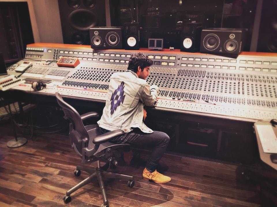 Wexler at a soundboard.