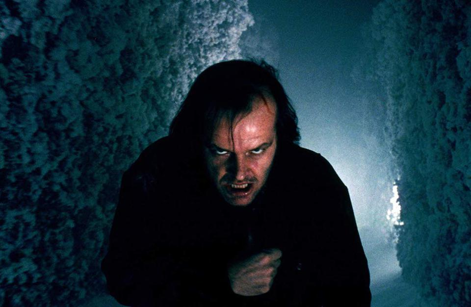 Jack Nicholson is mesmerising in The Shining.