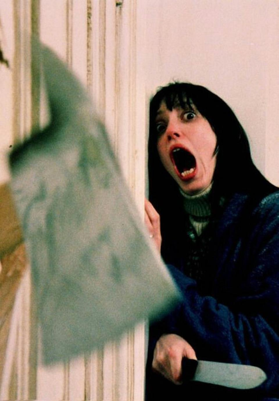 Shelley Duvall pushed to her limits in The Shining.