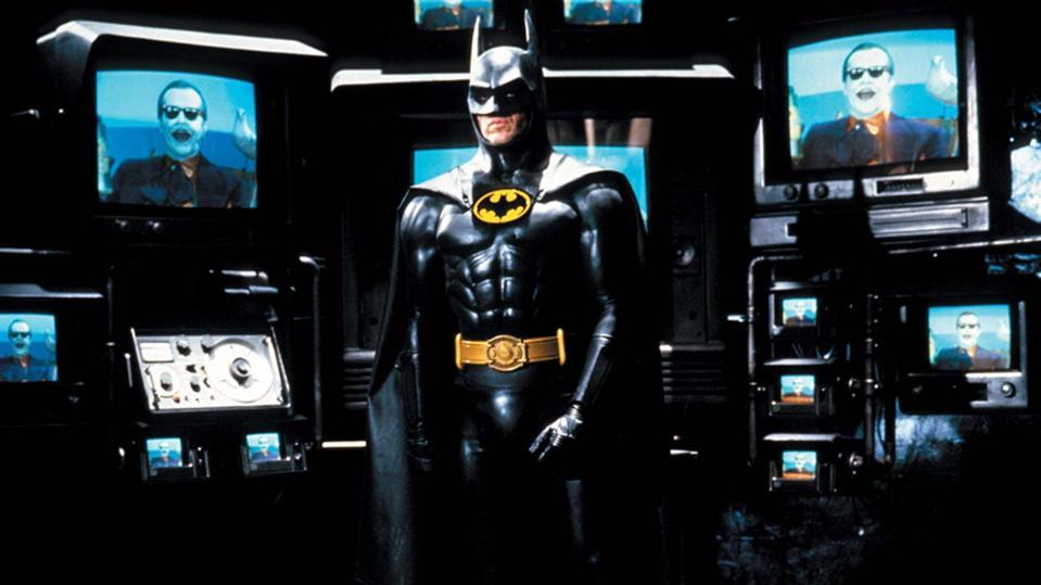 Michael Keaton and Jack Nicholson in Tim Burton's 'Batman'