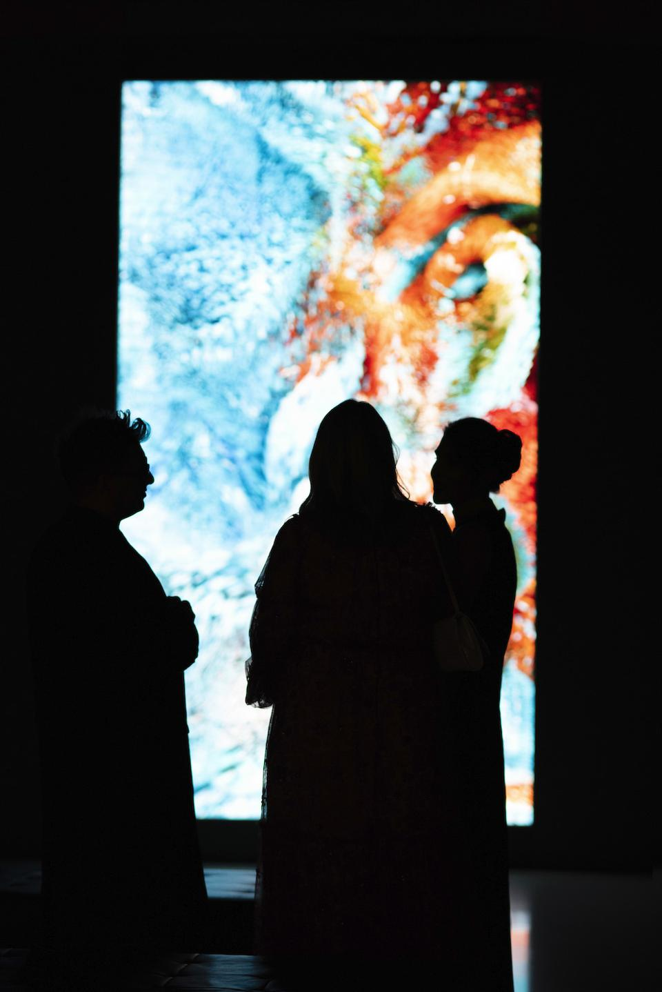 Refik Anadol's new work for the Rolls-Royce Art Programme previews at Dine on the Line