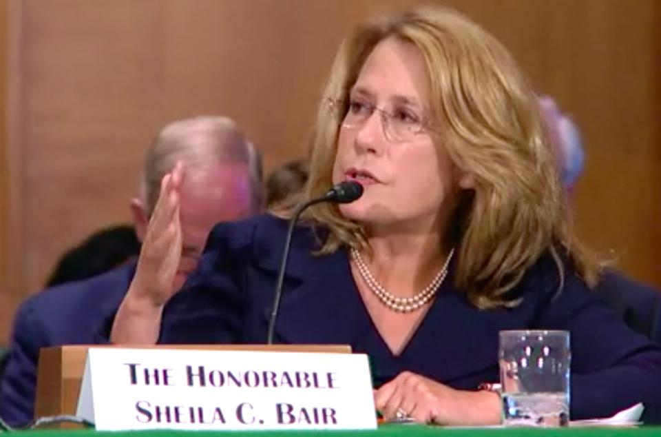 Former Chair of the FDIC Sheila Bair Testifies at the Senate Banking Committee on Faster Payments