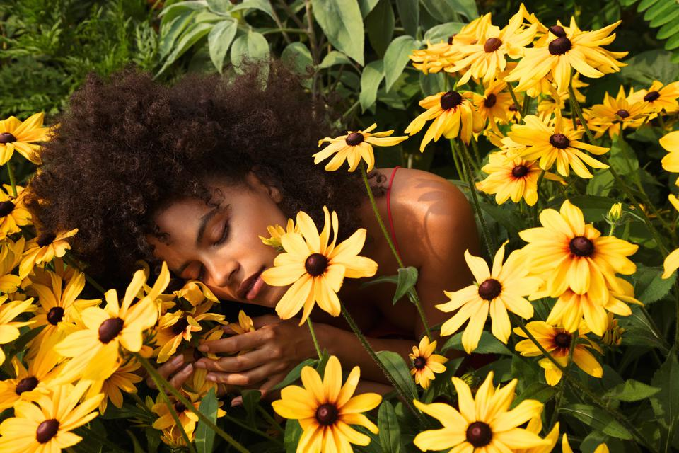 Zazie Beetz, brand activist with True Botanicals