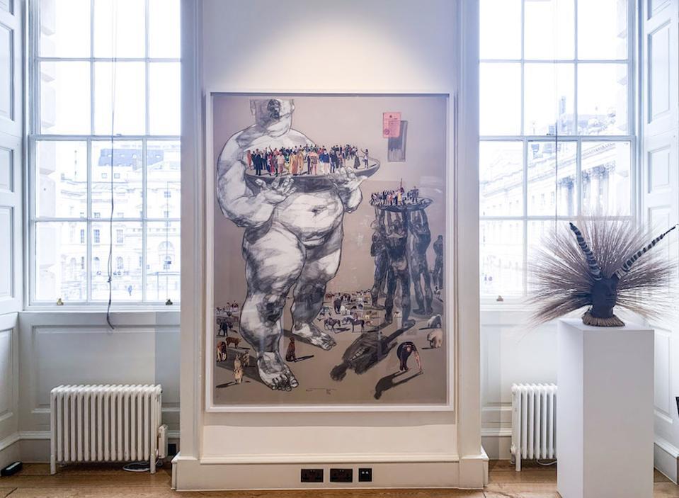 Dawit Abebe, Mutual Identity 26, 2019 at Kristin Hjellegjerde Gallery, 1-54 Art Fair, October 2019