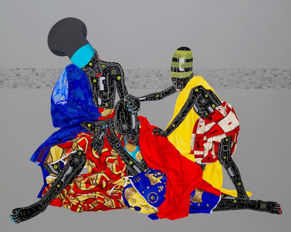Eddy Kamuanga Ilunga, Oubliez le passeÌ et vous perdez les deux yeux, October Gallery at 1-54 Art Fair