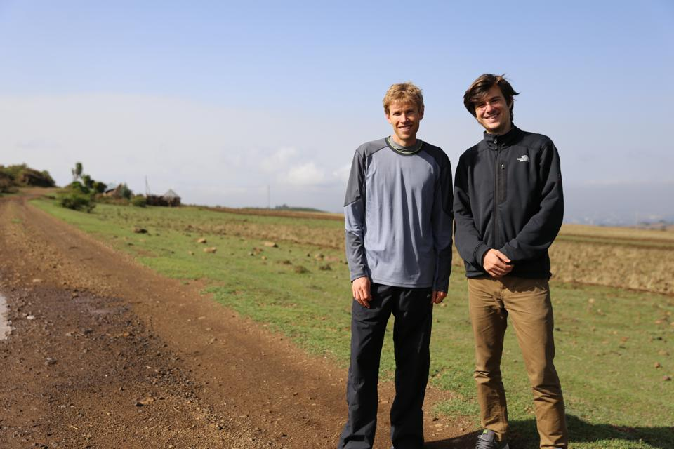 Ryan Hall with director Tim Jeffreys in Ethiopia, 2015
