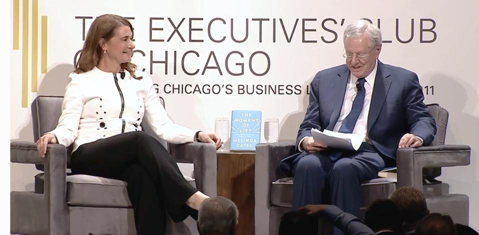 Melinda Gates and Steve Forbes
