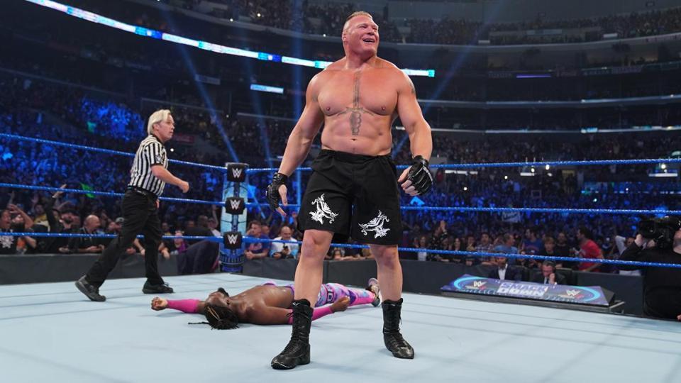 WWE Friday Night SmackDown Kofi Kingston Brock Lesnar Cain Velasquez