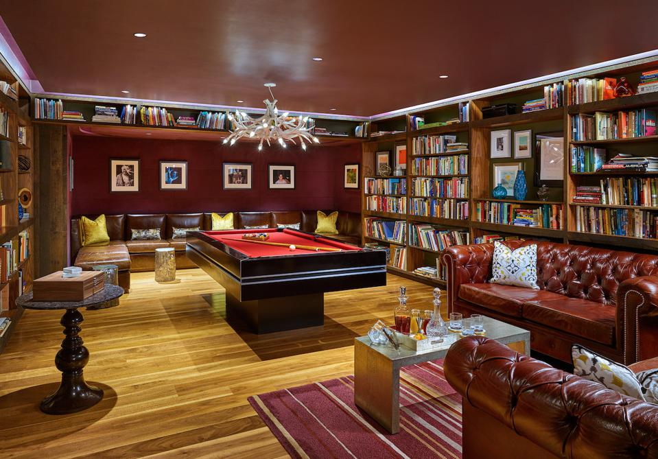Nines Hotel library