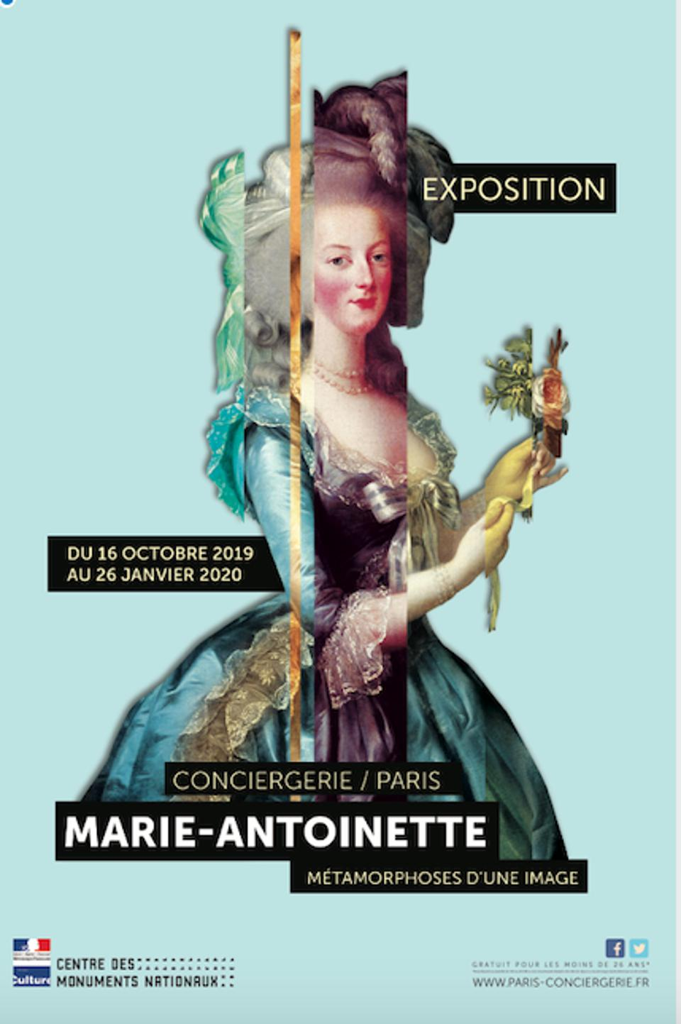 ″Marie-Antoinette: Metamorphoses of an Image″ will be at the Conciergerie, October 16, 2019 to January 26, 2020