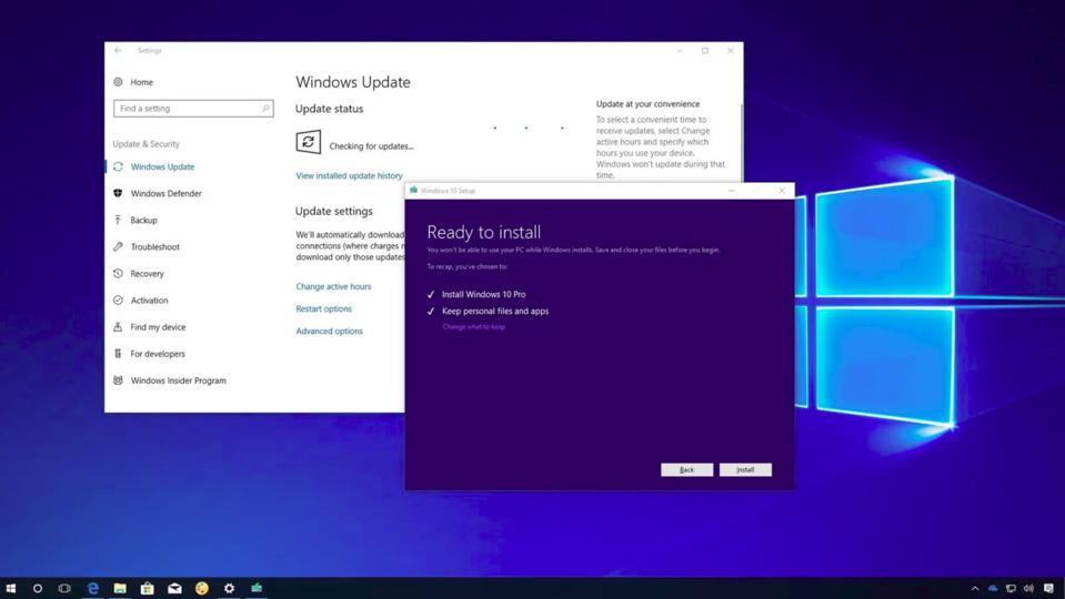 Microsoft Windows 10 update problems